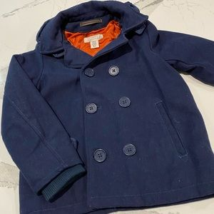 💙 Wool Blend Boys 9/10 Double Breasted Jacket